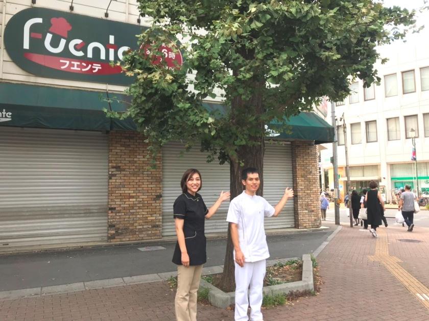東武ストアフェンテ常盤台店の前です